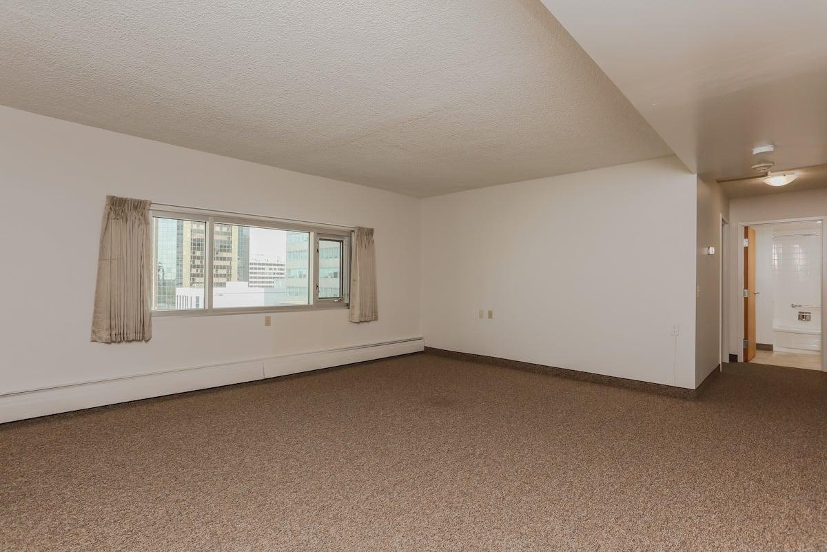 One bedroom suite barrier free living room