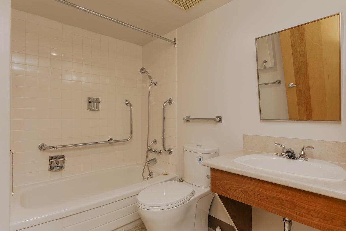 One bedroom suite barrier free bathroom