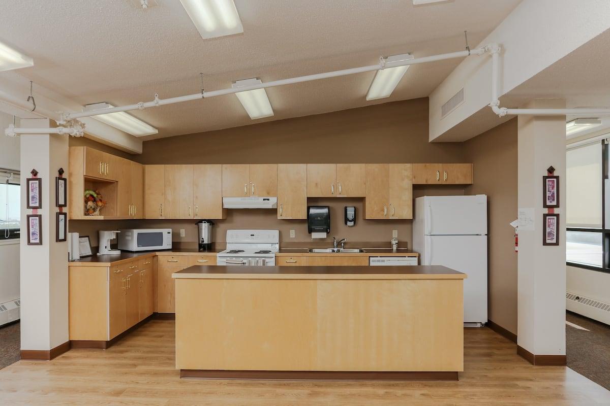 Penthouse social room kitchen