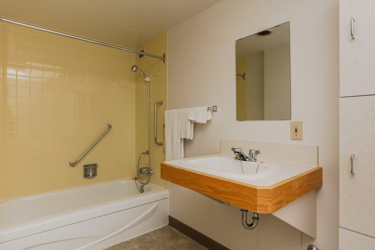 Lodge room bathroom
