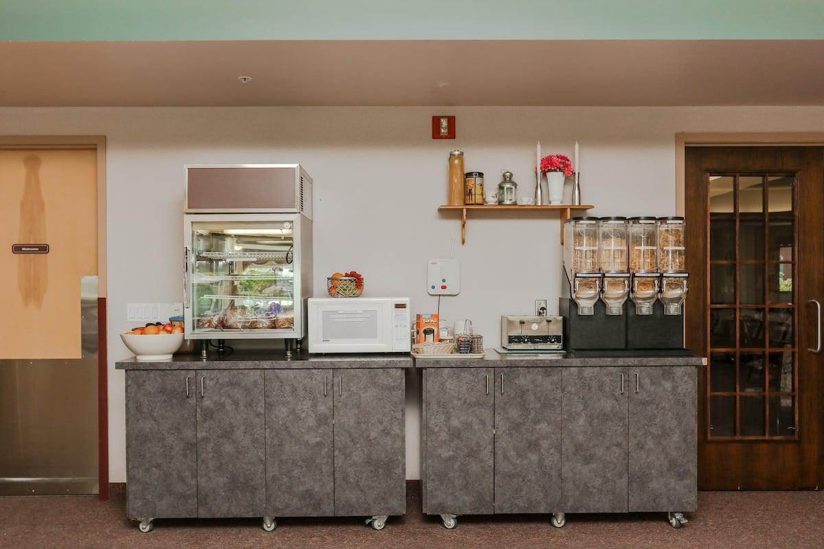 Snack bar in dining room