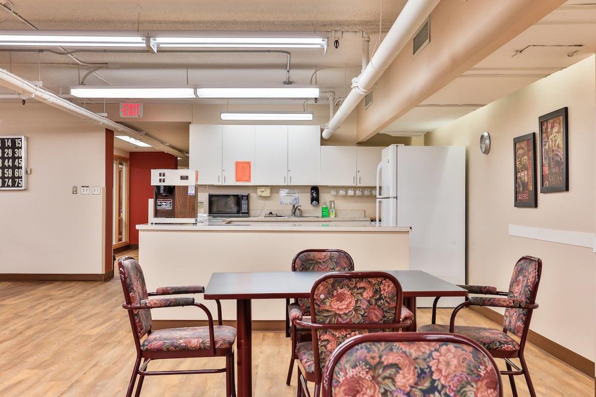 Recreational activity room kitchen