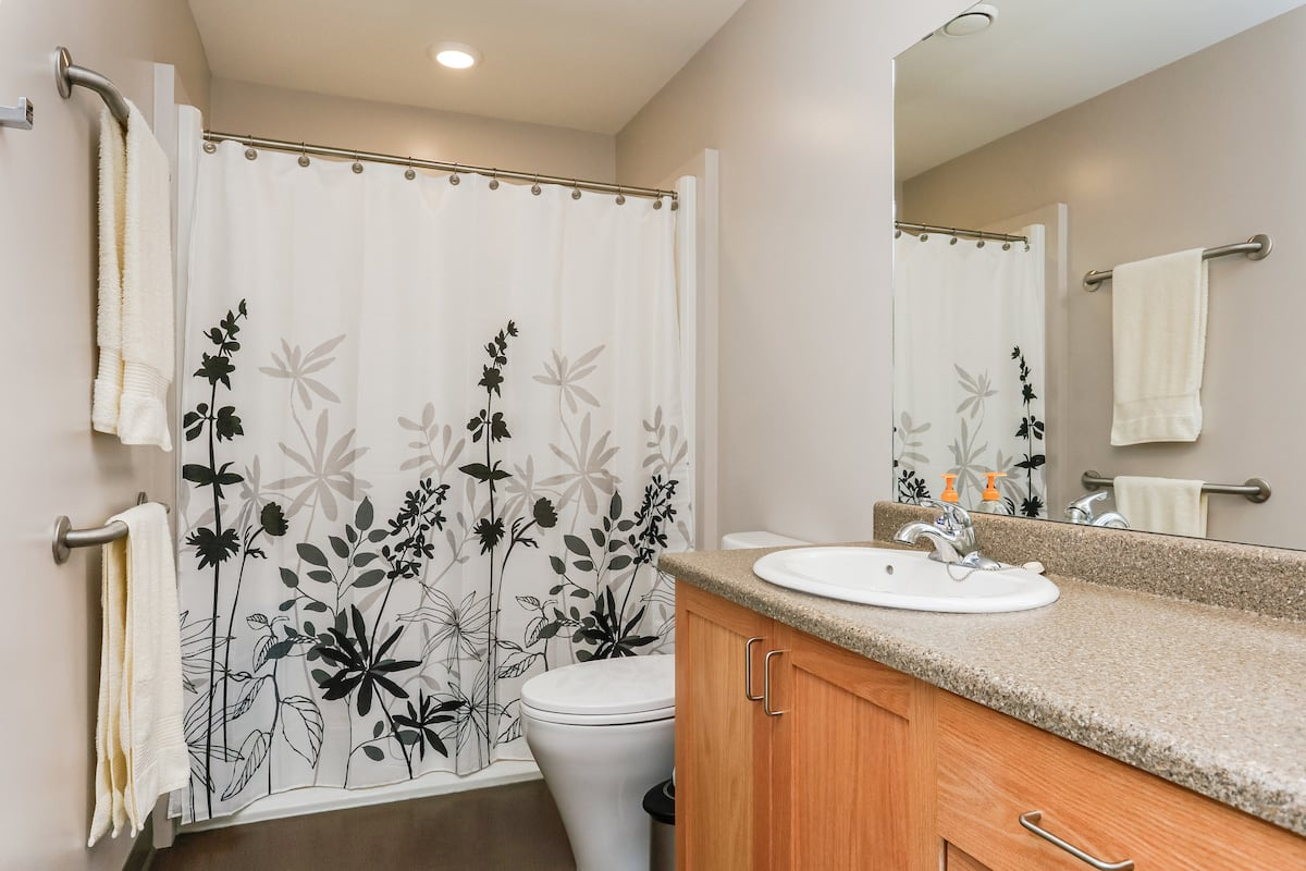 Two bedroom affordable suite bathroom