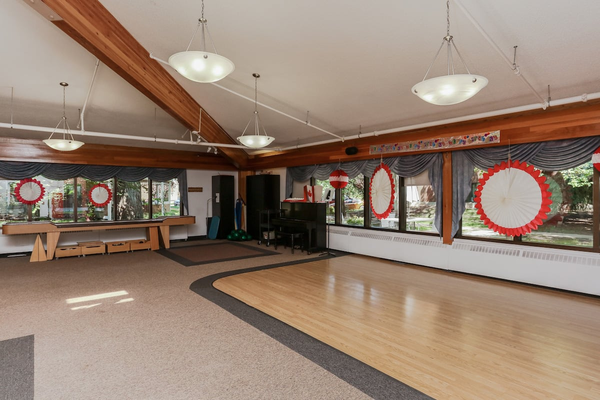 Entertainment area in dining room